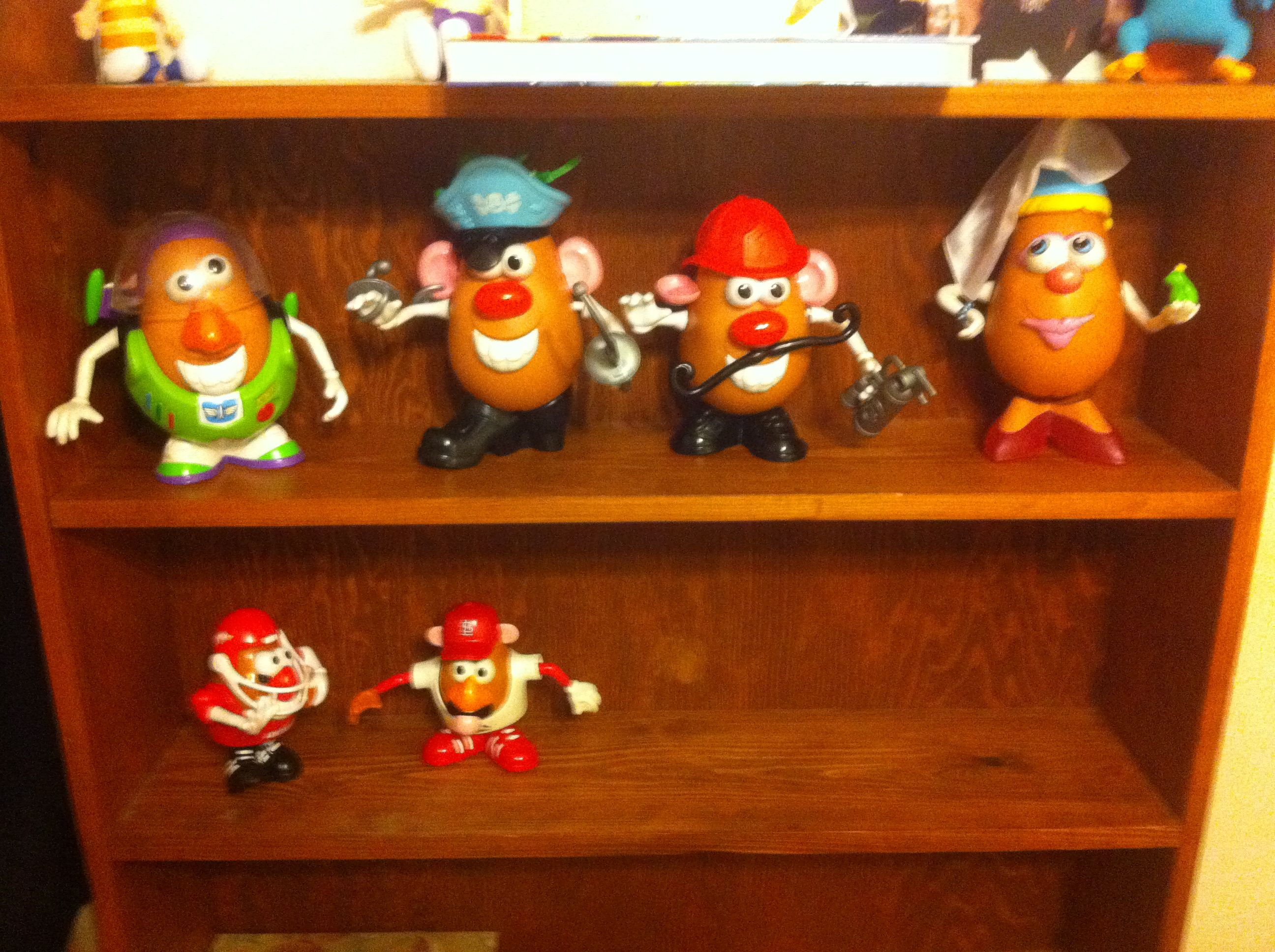 Spud Lightyear, Pirate Spud, Firefighter Spud, Fairy Princess Spud, Arkansas Razorbacks, St Louis Cardinals