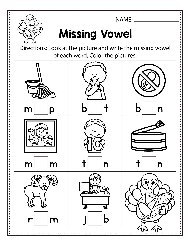 Thanksgiving Kindergarten Worksheets