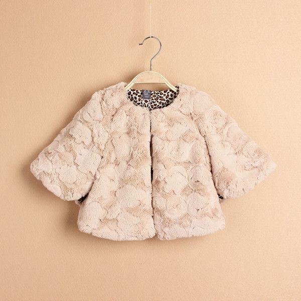 Little faux fur jacket for Fall