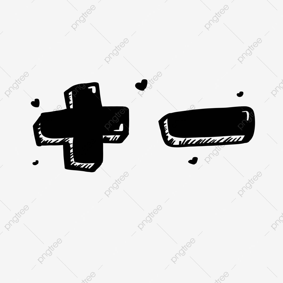 Black Solid Cartoon Plus Or Minus Symbol Black Stereo Cartoon Png Transparent Clipart Image And Psd File For Free Download Cartoons Png Symbols Clip Art