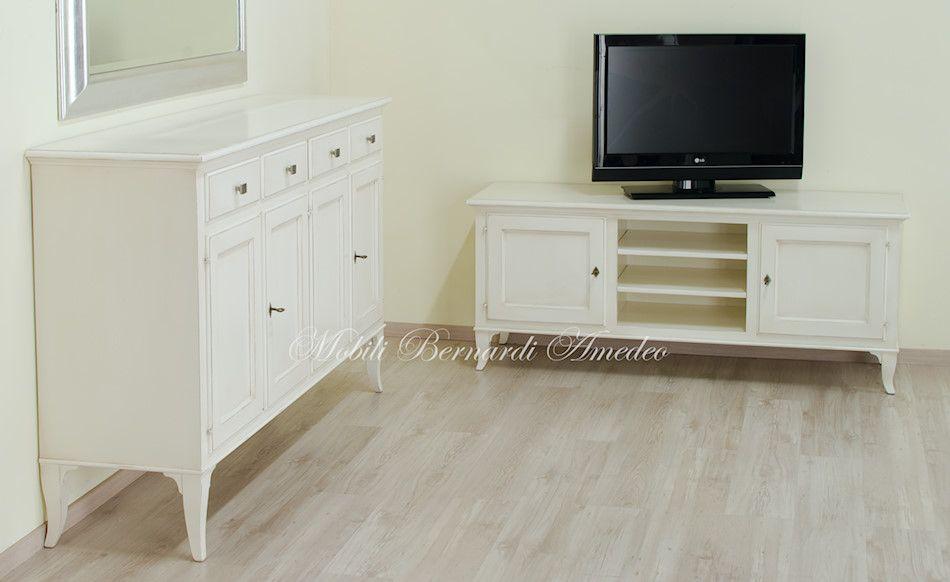 Credenza Moderna In Legno Massello : Credenza ante e mobile porta tv in legno massello con finitura