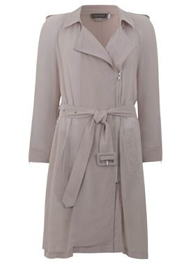 Blush Organic Georgette Trench