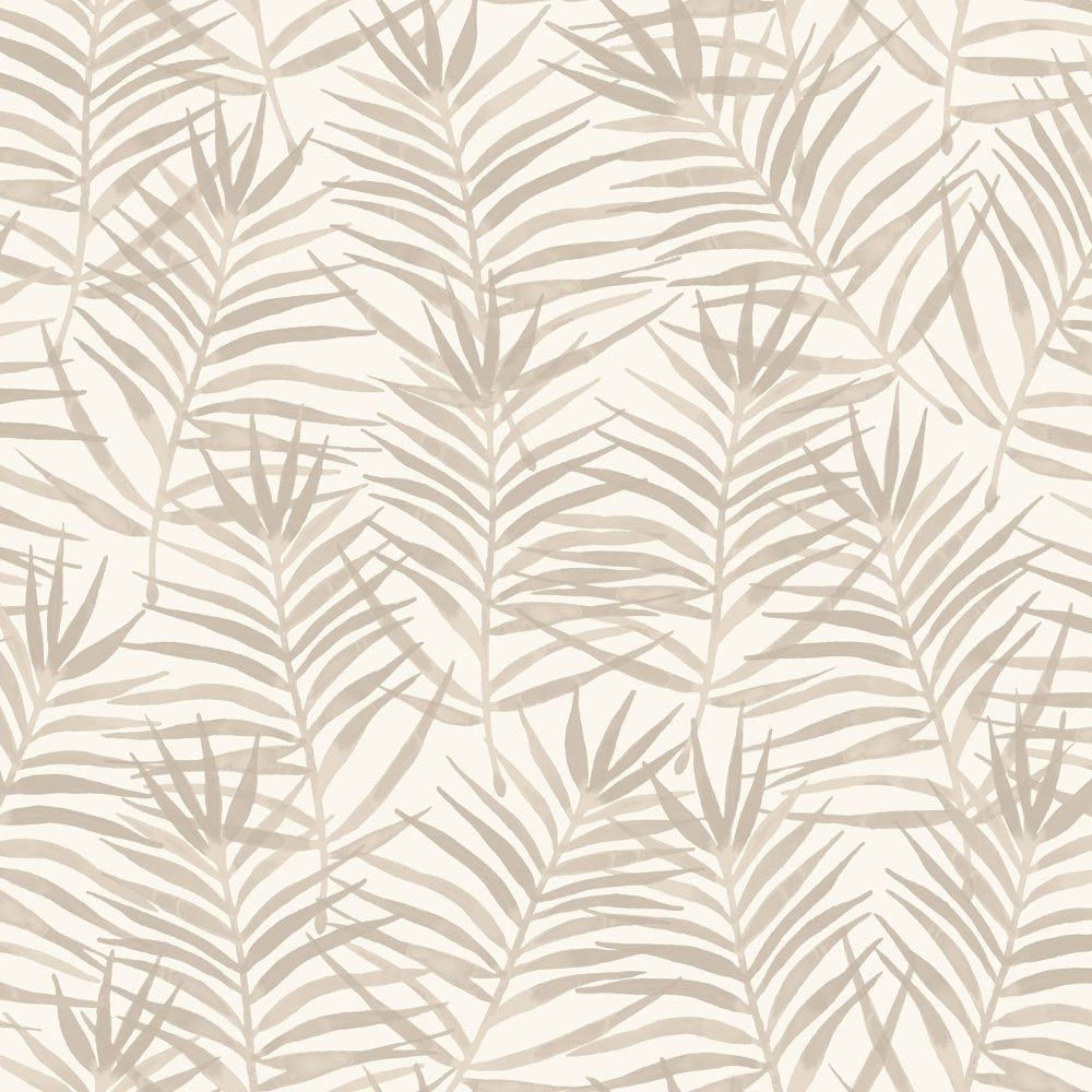 Rasch apples vinyl kitchen wallpaper 824506 cream cut price - Rasch Paradise Palm Leaf Pattern Tropical Floral Wallpaper 208917