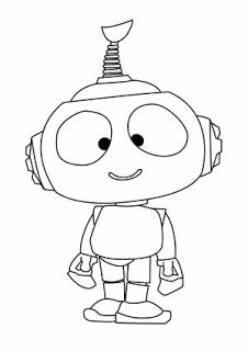 Rob The Robot Coloring Pages  Para Pintar  Pinterest