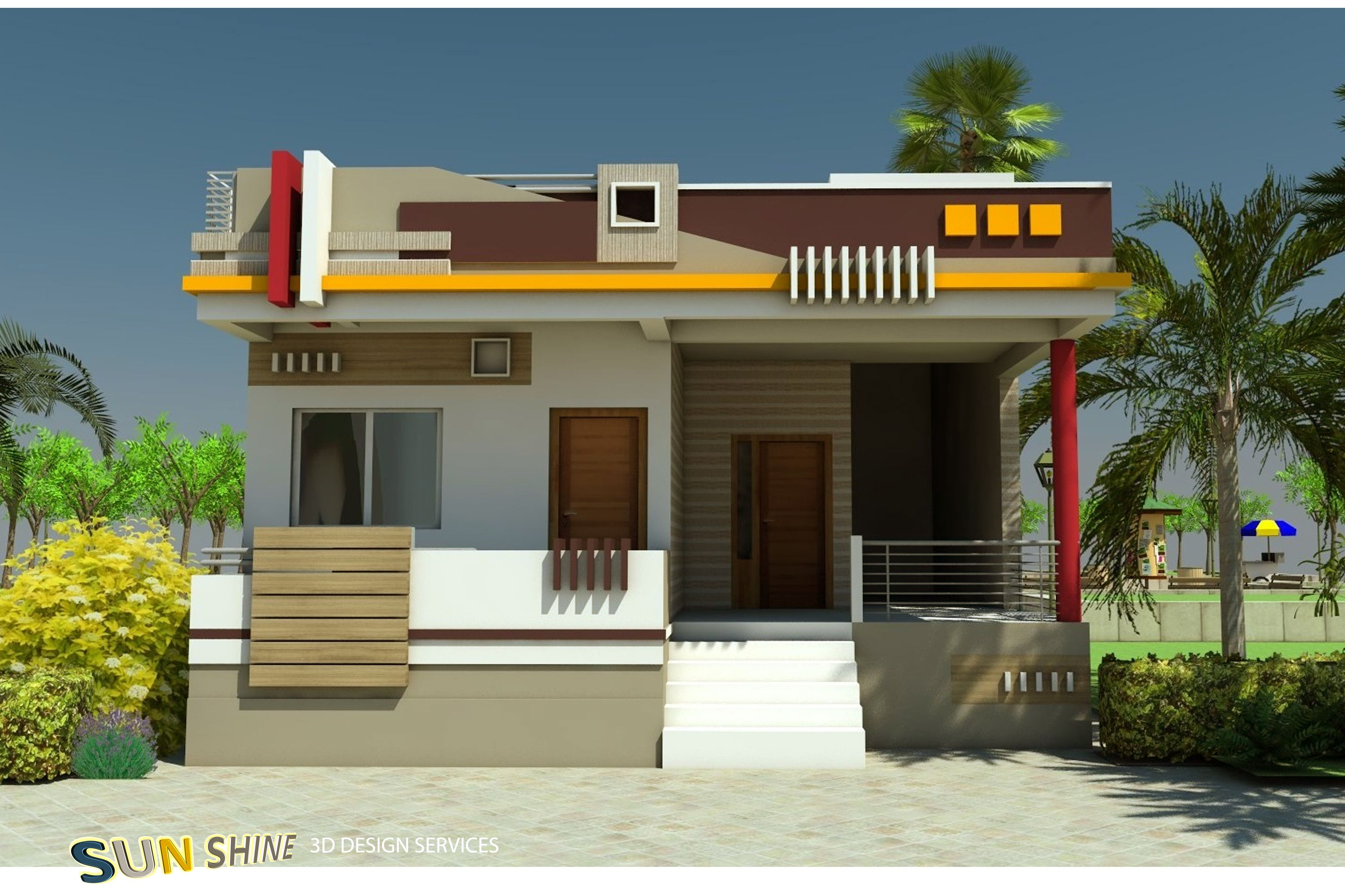 House Front Design Indian Style Single Floor