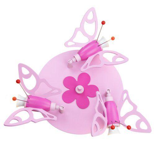Süsse Deckenlampe mit Schmetterlingen in rosa | Kinderzimmer ...