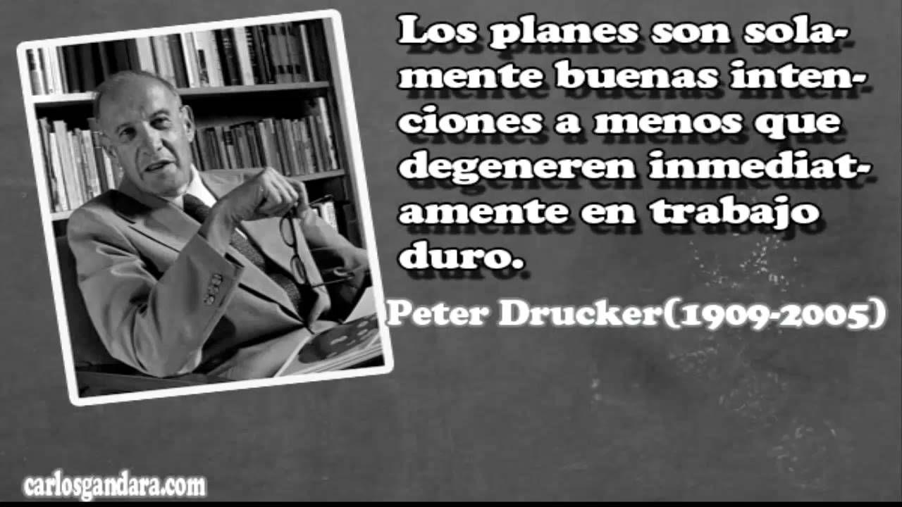 Frases Famosas De Peter Drucker Youtube