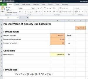 Present Value Of Annuity Due Calculator Tvmschools Annuity Calculator Annuity Calculator