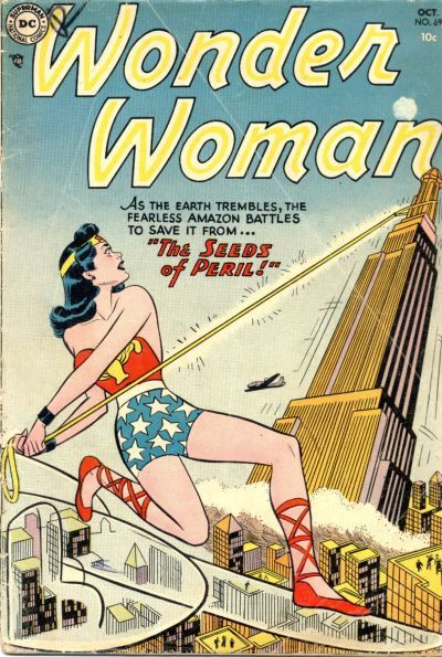 Cover By Irwin Hasen Wildcat Next To Her Bracelets And Lasso