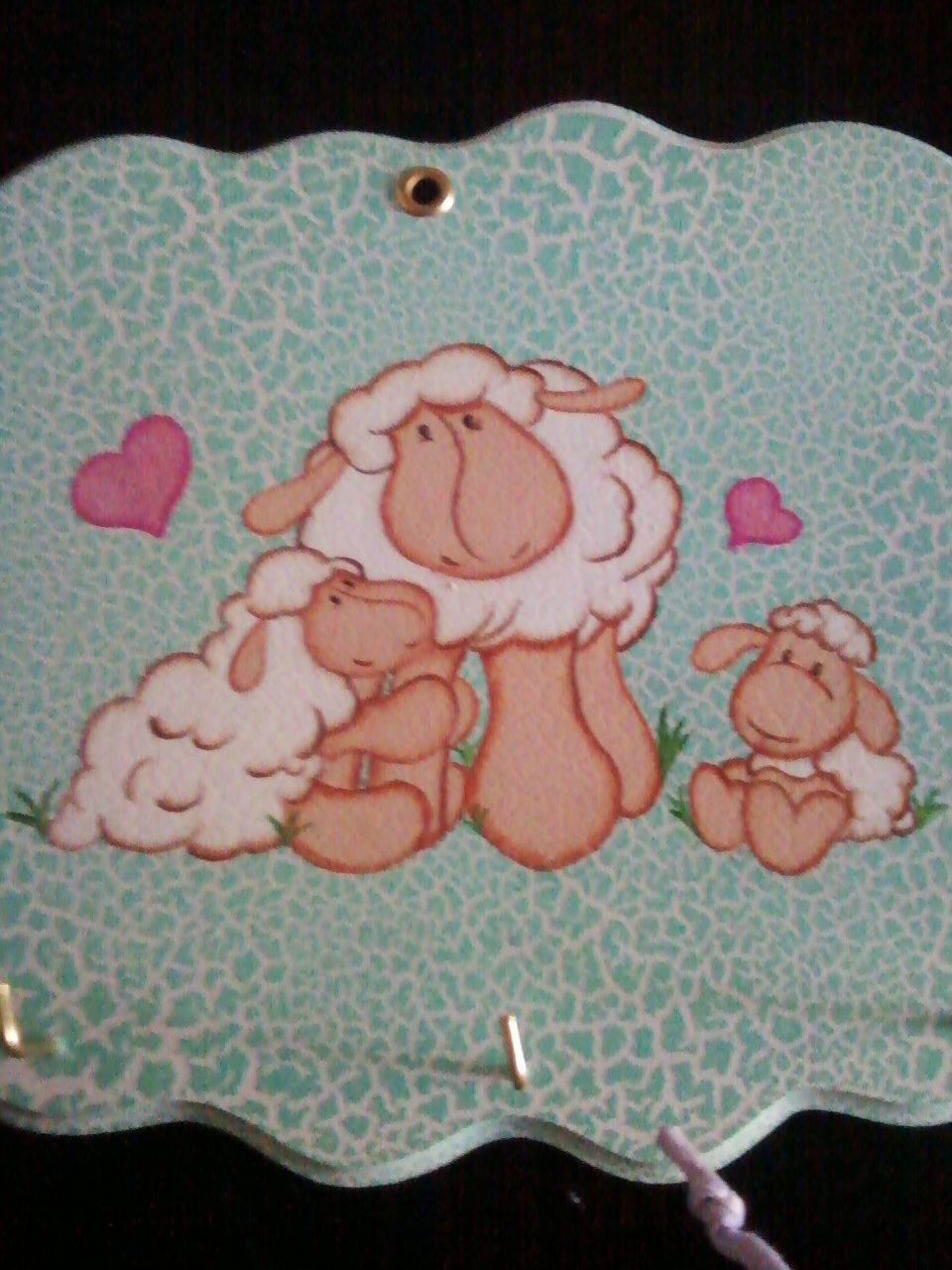 Porta llaves ovejitas / Dulces Detalles