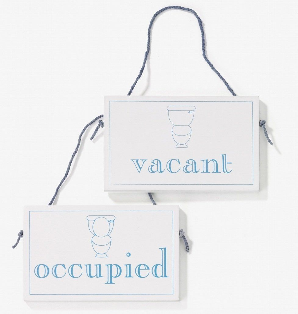 Bathroom Signs Amazon vacant / occupied wooden hanging sign: amazon.co.uk: kitchen
