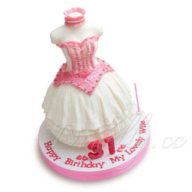 Fluffy dress birthday cake