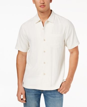 a736be552f Tommy Bahama Men's Weekend Tropics Silk Shirt, Created for Macy's - White  XXXL