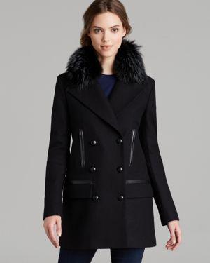 SAM. Coat - Boyfriend Fur Collar