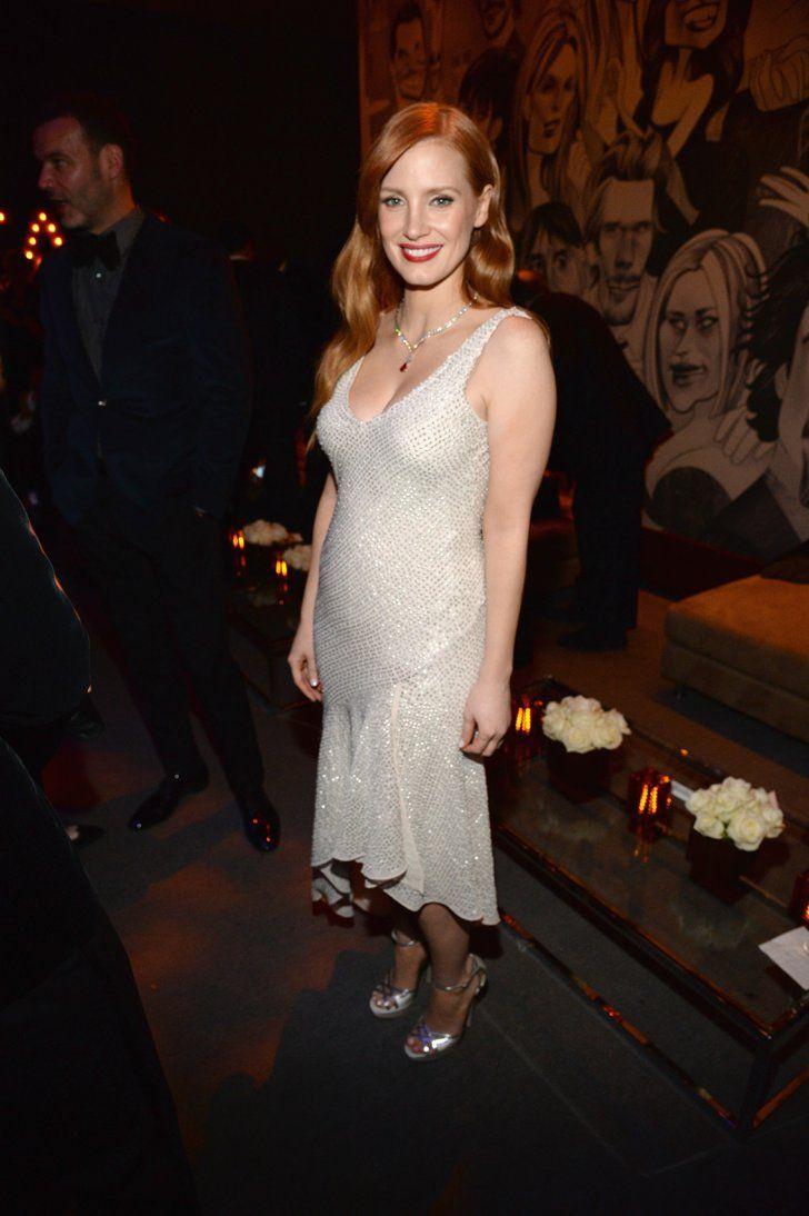 Pin for Later: Die Stars feiern ausgelassen nach den Oscars Jessica Chastain