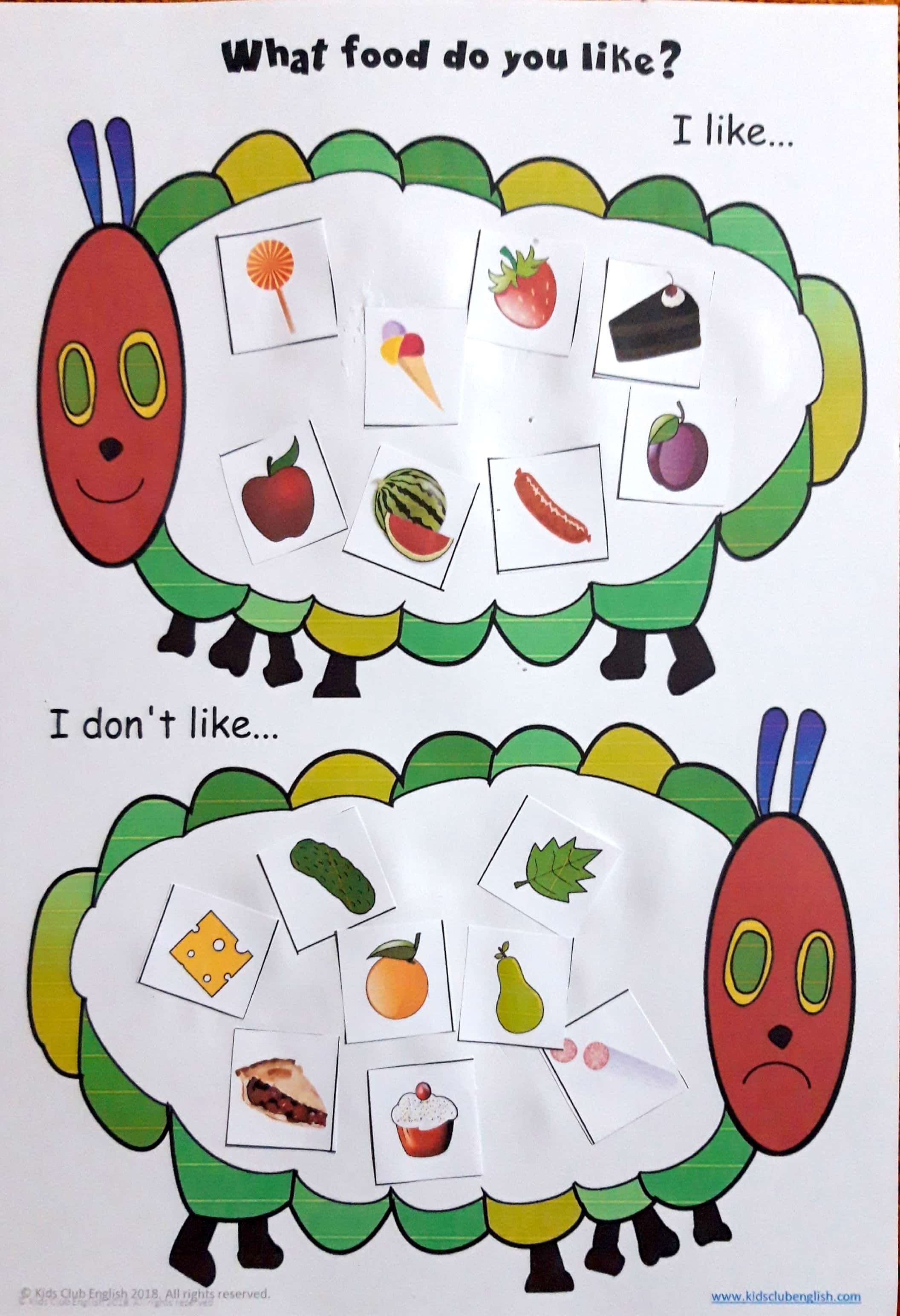 Kids Practise Expressing Food Preferences While Learning