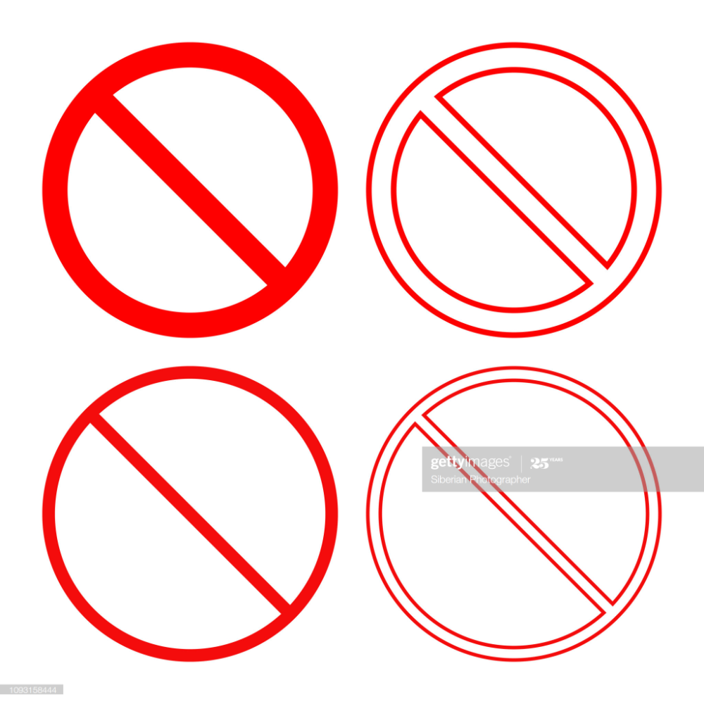 Stock Illustration No Sign Forbidden Or Prohibition Symbol Icon Set Vector Icon Set Symbols Icon Set Vector