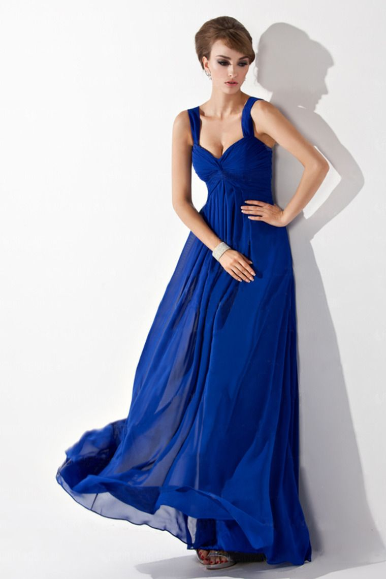 Buy Blue royal bridesmaid dresses with straps picture trends