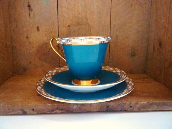 vintage 1950s Windsor trio cup saucer and side by babygotvintage, £10.00