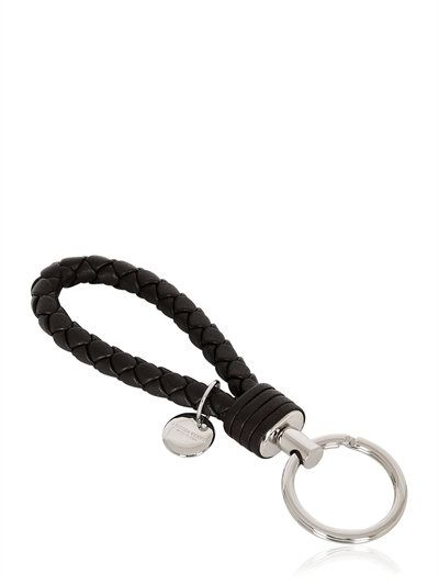 Key Chain for Women, Key Ring On Sale, Key Ring, Espresso, Leather, 2017, One size Bottega Veneta