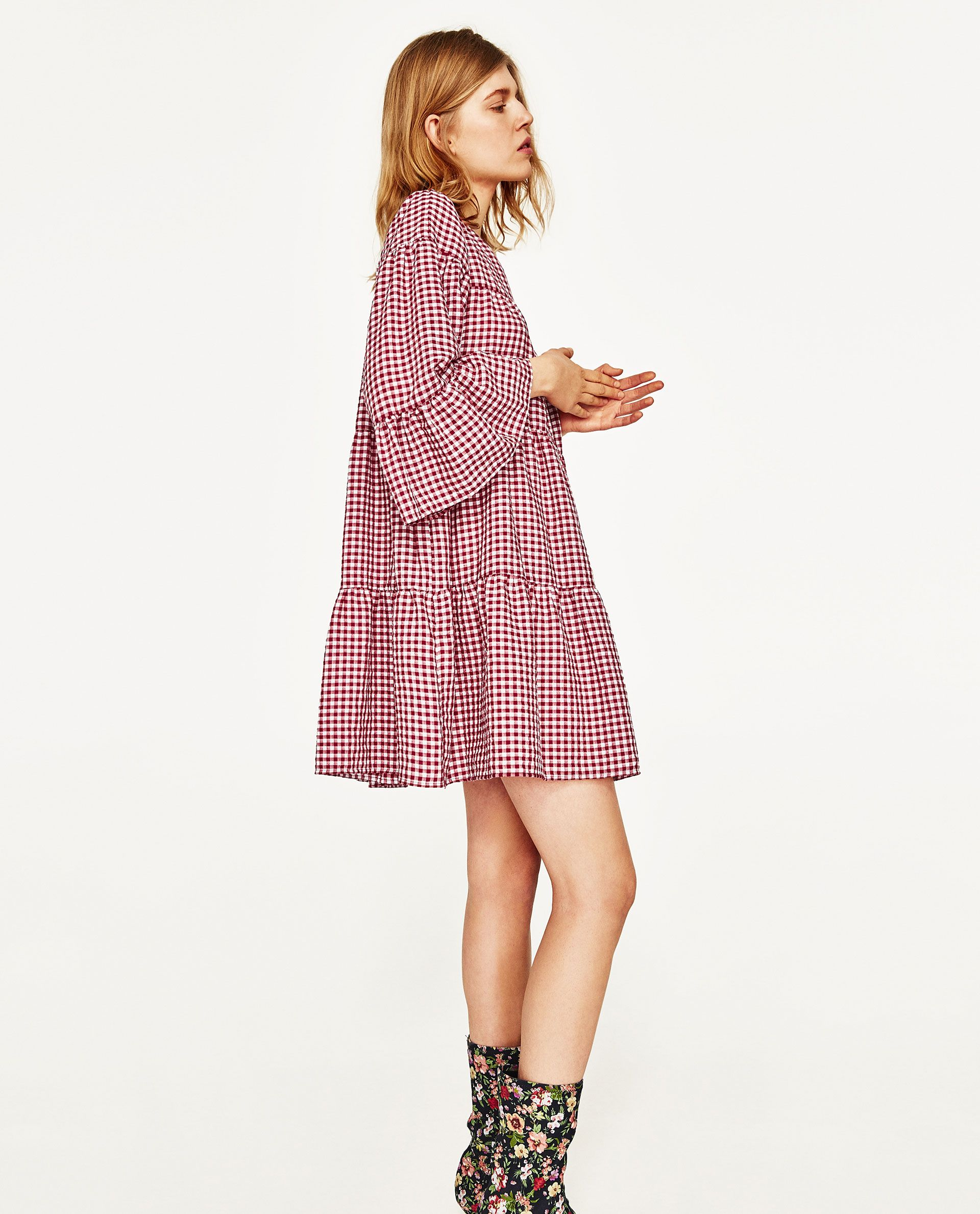 image 5 of gingham mini dress from zara | outfit, outfit