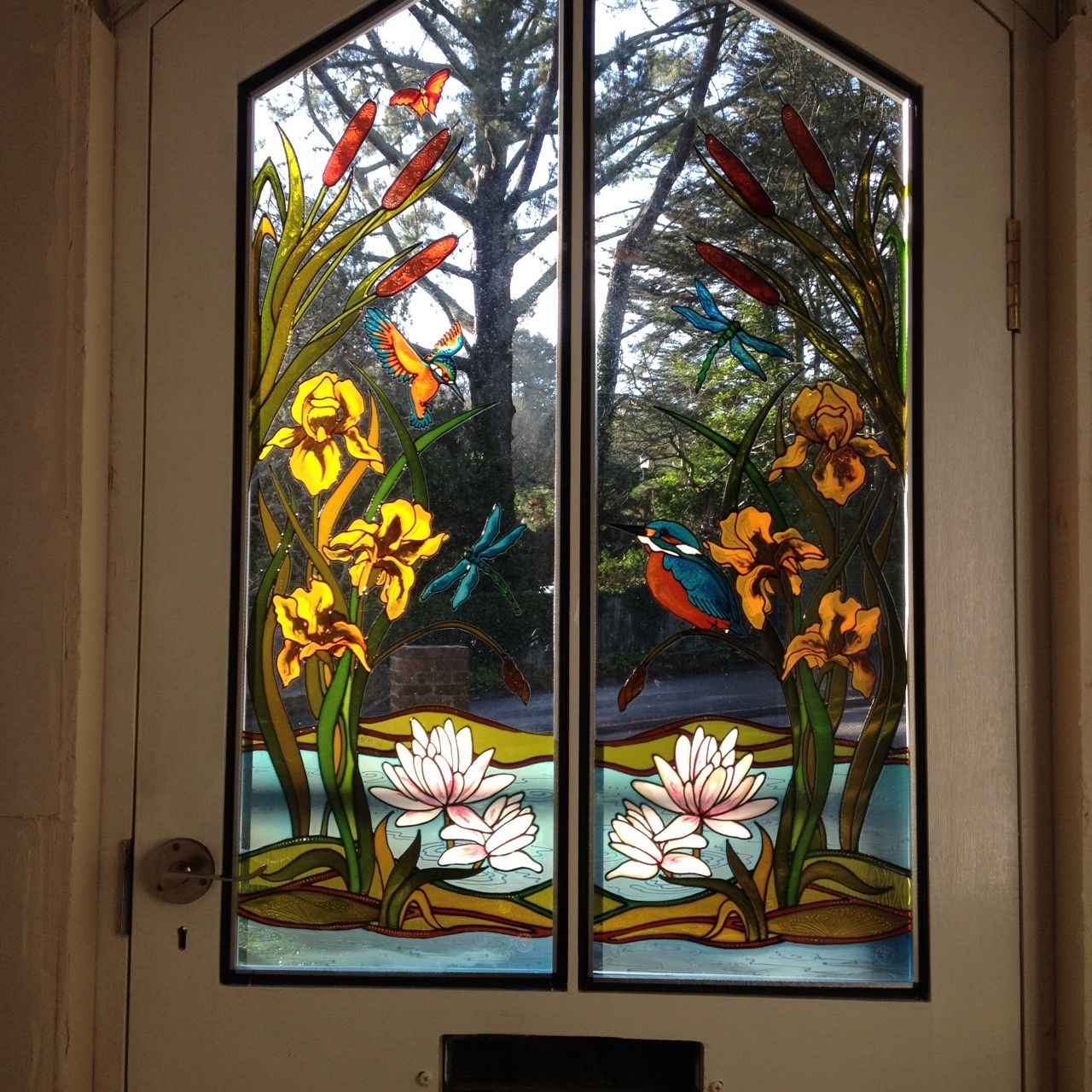 I Love These Stained Glass Effect Painted Door Panels They Look Fabulous Are Only Half And Then Fitted Into Double Glazed Units