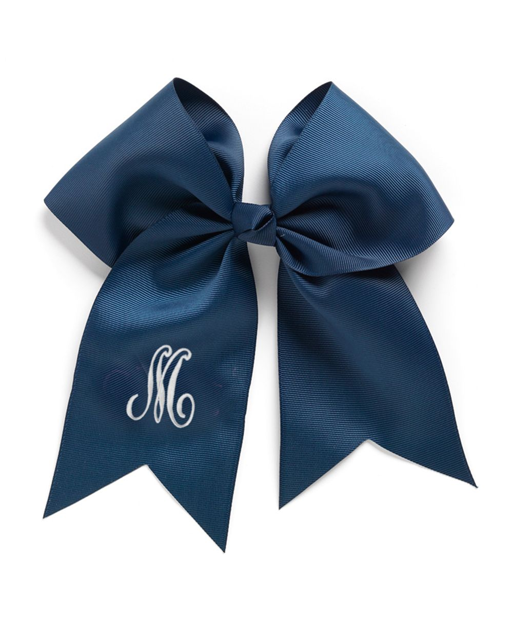 Navy Initial Bow Clip