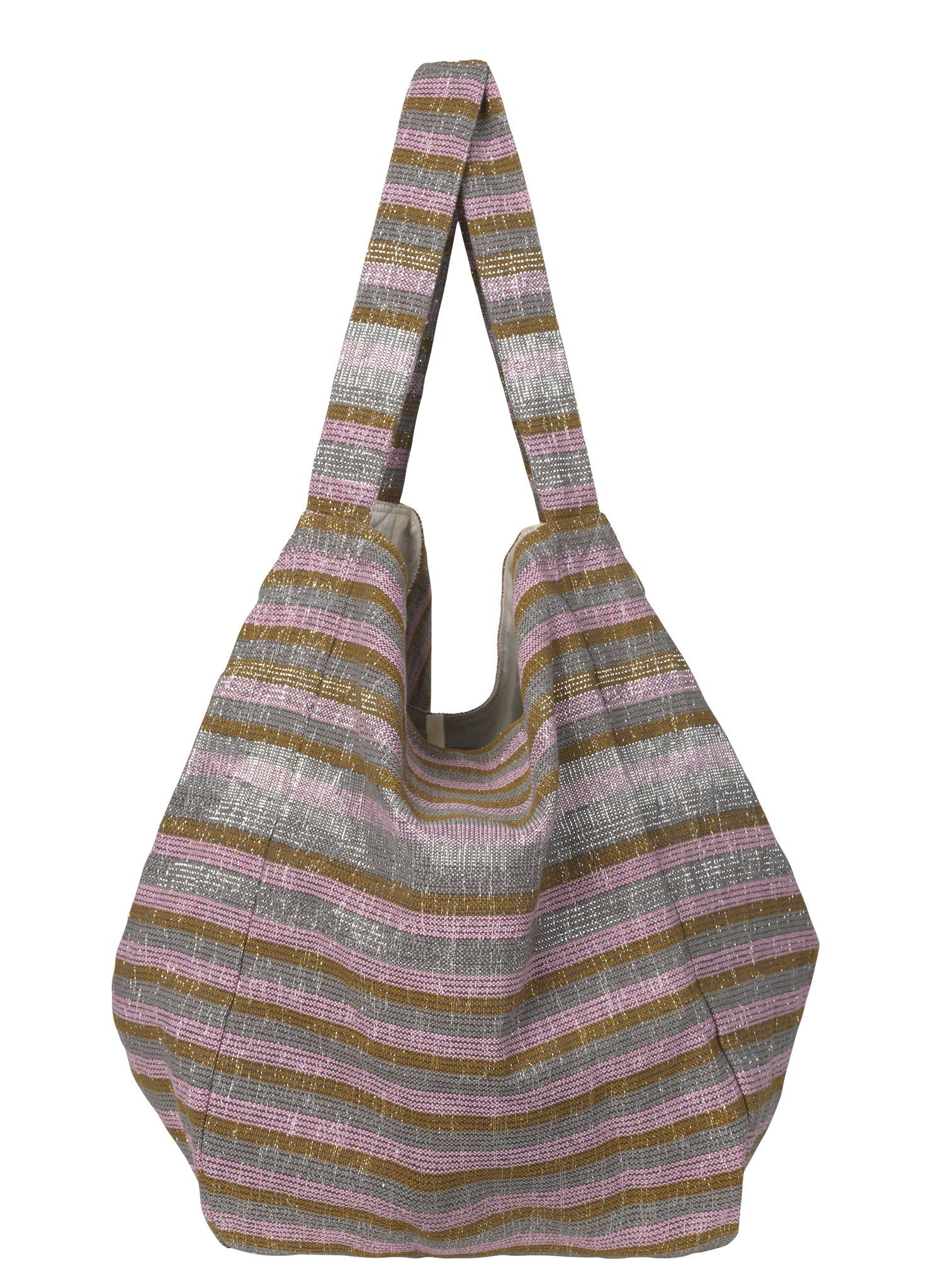 Striped oversized bag by Becksondergaard The Sia Mansion