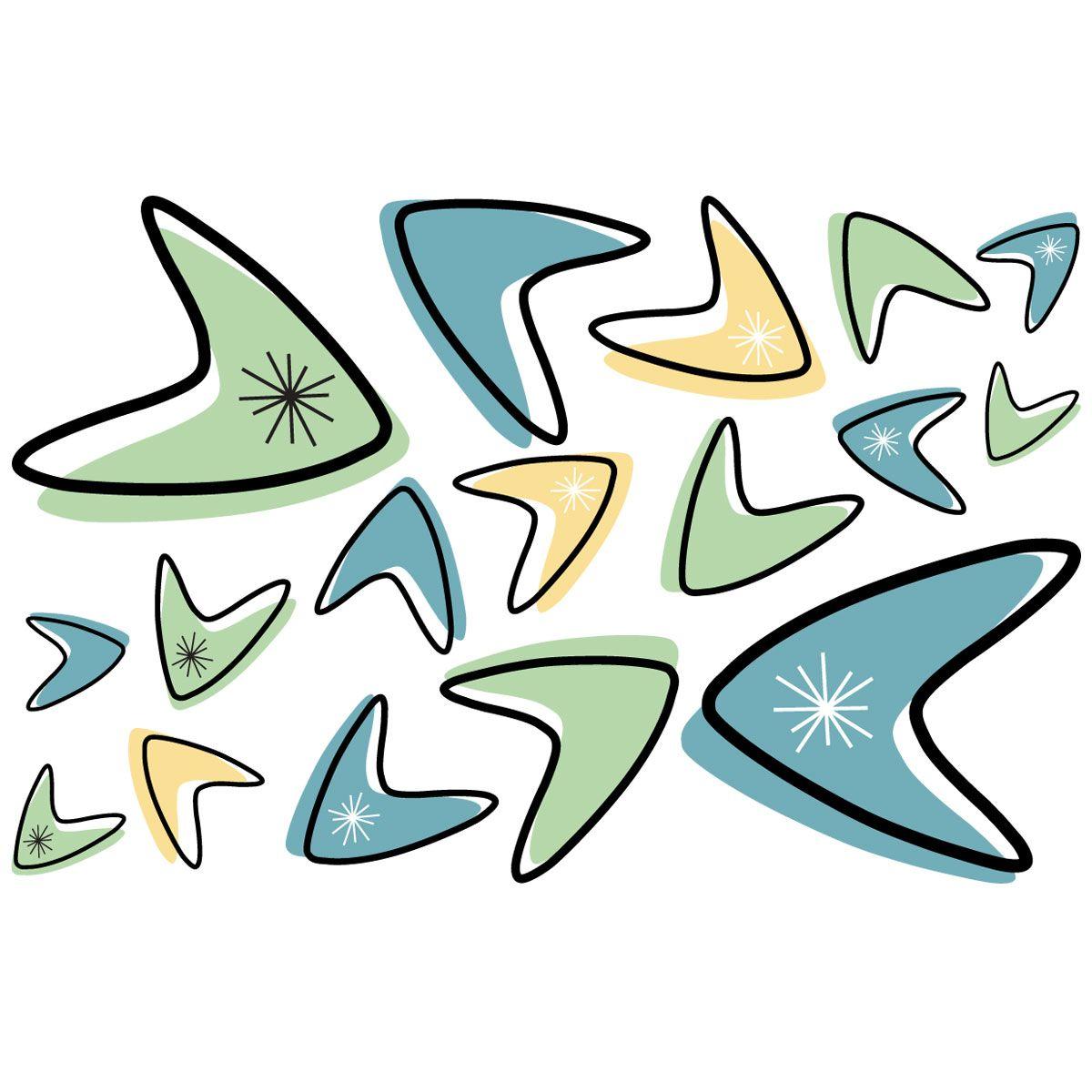 Atomic Boomerangs Vinyl Sticker Sheet Of Vinyl Sticker Sheets - Where to get vinyl stickers made