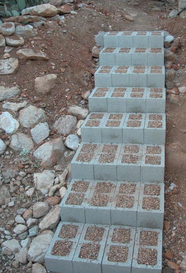Escaliers De Jardin A Construire Soi Meme 35 Inspirations En 2020 Escalier De Jardin Marches Jardin