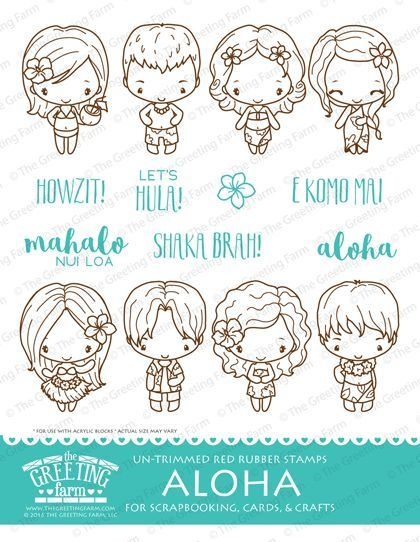 Aloha kit the greeting farm cling rubber stamp stamping anyaian aloha kit the greeting farm cling rubber stamp stamping anyaian m4hsunfo