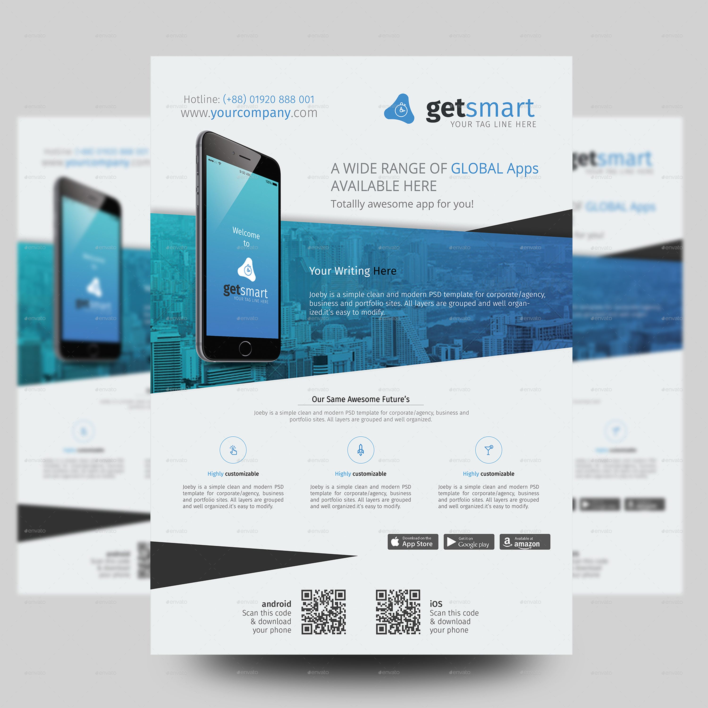 Mobile App Promotional Flyer Promotional flyers, Mobile