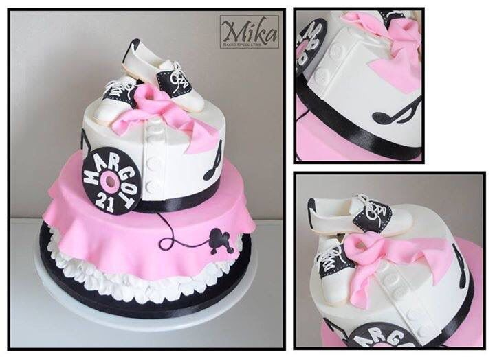 Swell Sock Hop Poodle Skirt Cake Sock Hop Party Themed Birthday Cakes Funny Birthday Cards Online Aeocydamsfinfo
