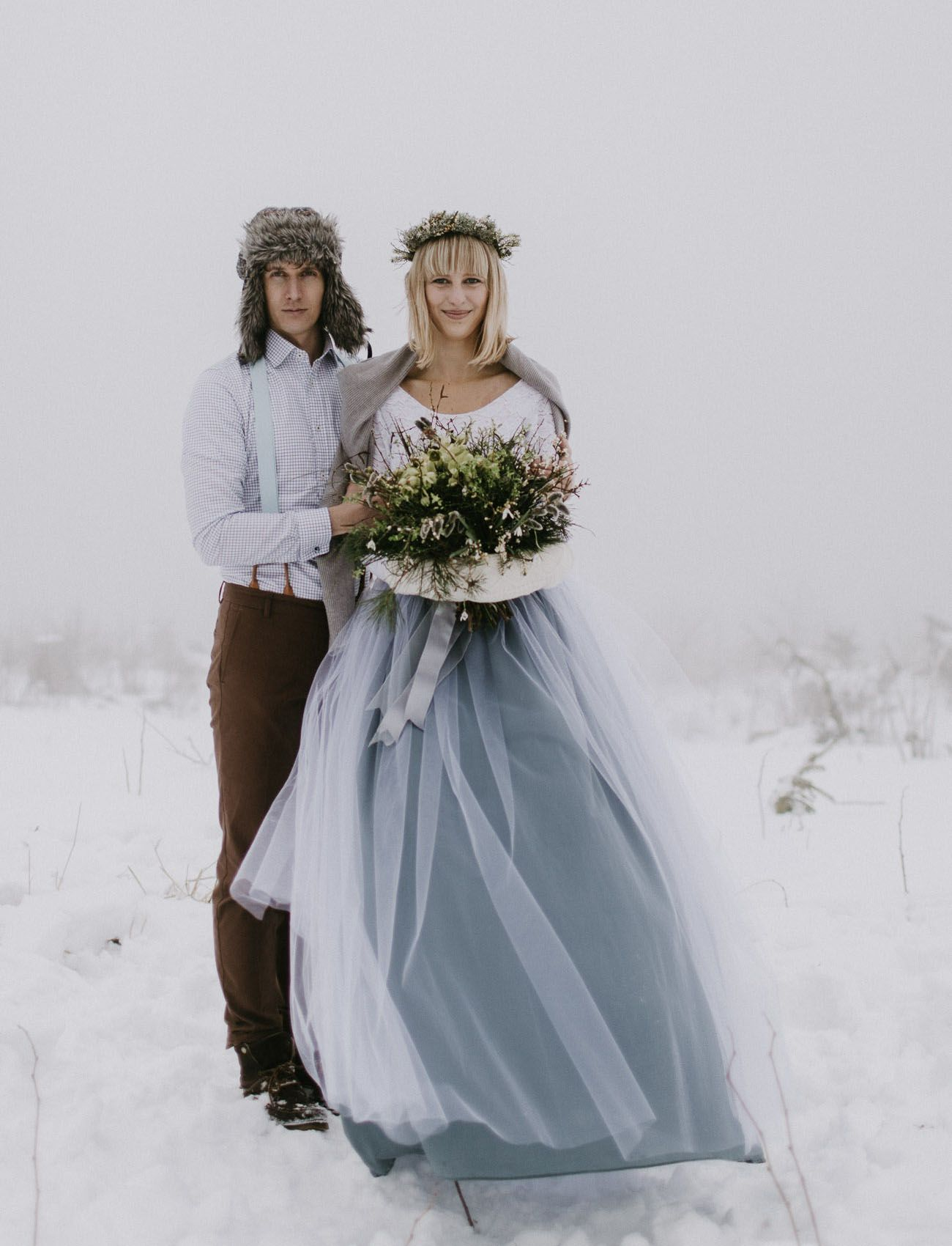 A Secret Wedding in the Snowy Mountains of the Czech ...
