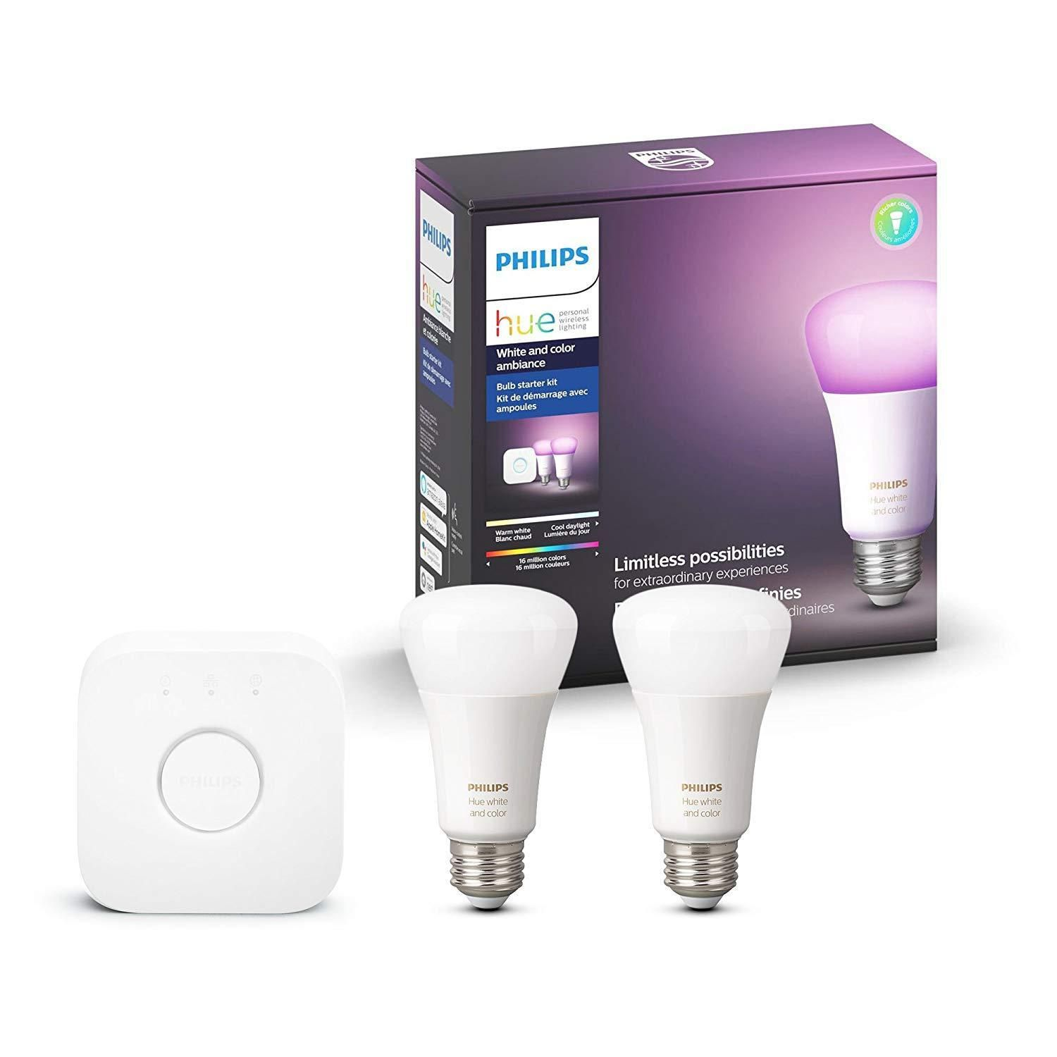 Prime w/ Alexa Philips Hue White/Color Ambiance Kit (2