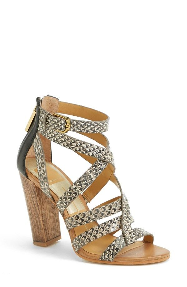 Dolce Vita Nolin Black/White Snake Leather, arrives this month! www.shop.  Strappy SandalsWomen ...