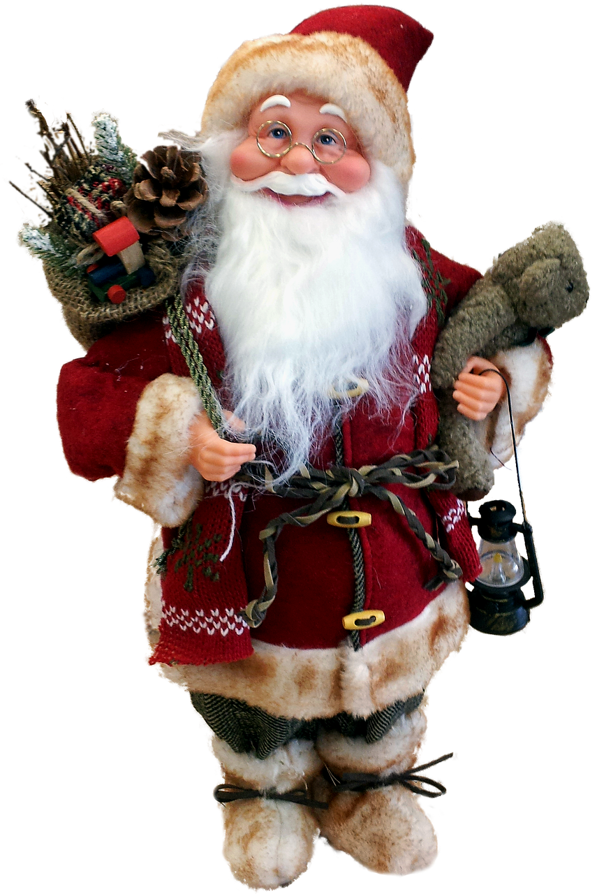 luxury of tree topper figure decor magical large christmas secrets santa web and sequin book claus the gold decorations