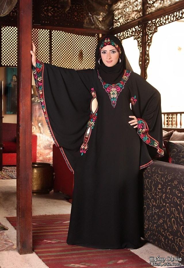 عبايات حديثة احدث ستايلات عبايات 2015 عبايات سوداء تتأرجح معها القلوب Abaya Fashion Islamic Dress African Dress Beautiful Hijab