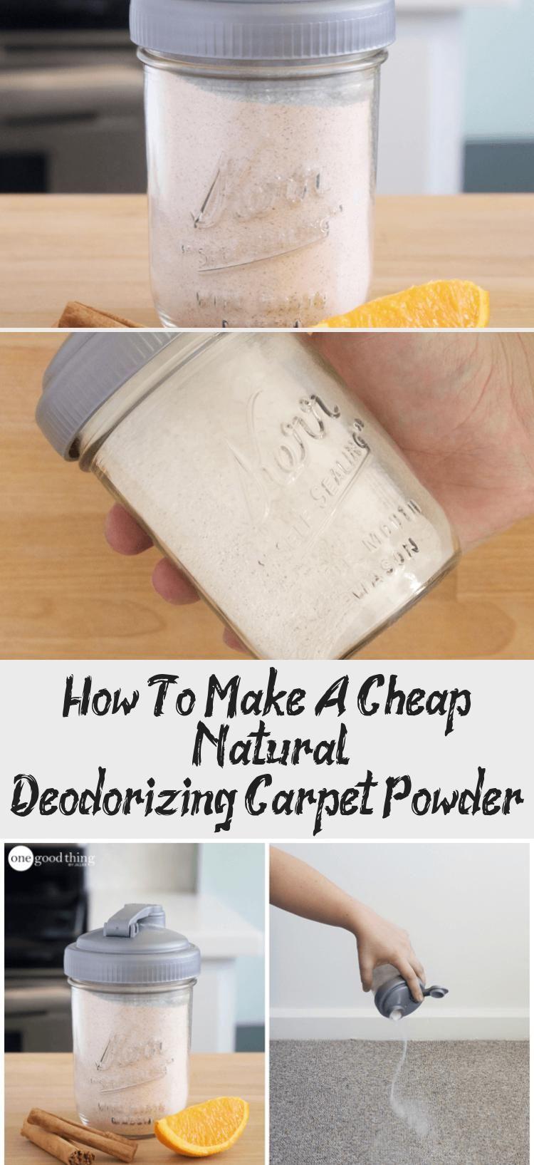 How To Make A Cheap Natural Deodorizing Carpet Powder In 2020