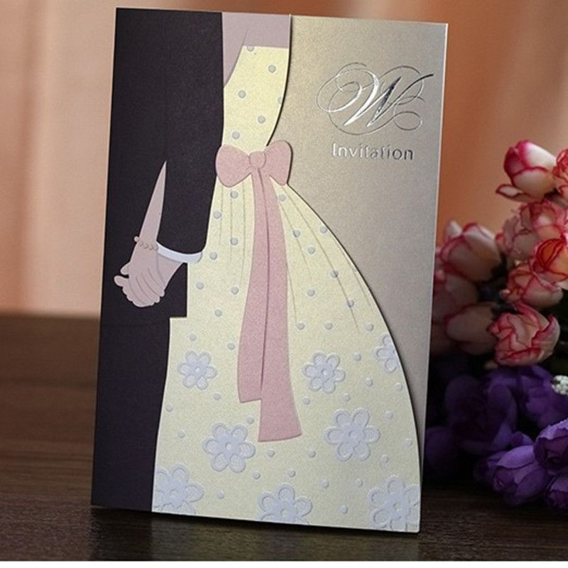 invitation wordings for wedding by bride and groom%0A Cheap card locked on camera  Buy Quality invitation card baby birthday  directly from China invitation cards envelopes Suppliers  Luxury Wedding  Invitations