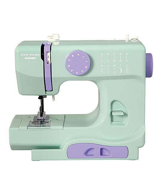Mystical Mint Sewing Machine. This lightweight sewing machine is perfect for home decor and piecing projects alike. With 10 built-in stitch options, easy stitch selection and tons of features, it's designed to make every stitch a little more seamless. Includes two bobbins, needle, needle threader, foot control, AC adapter and instruction manual11.5'' W x 9.5'' H x 5.5'' D5 lbs.Resin / aluminum10 built-in stitch optionsEasy stitch selectionReverse stitchTwo needle positionsTop drop-in bobbinTensi
