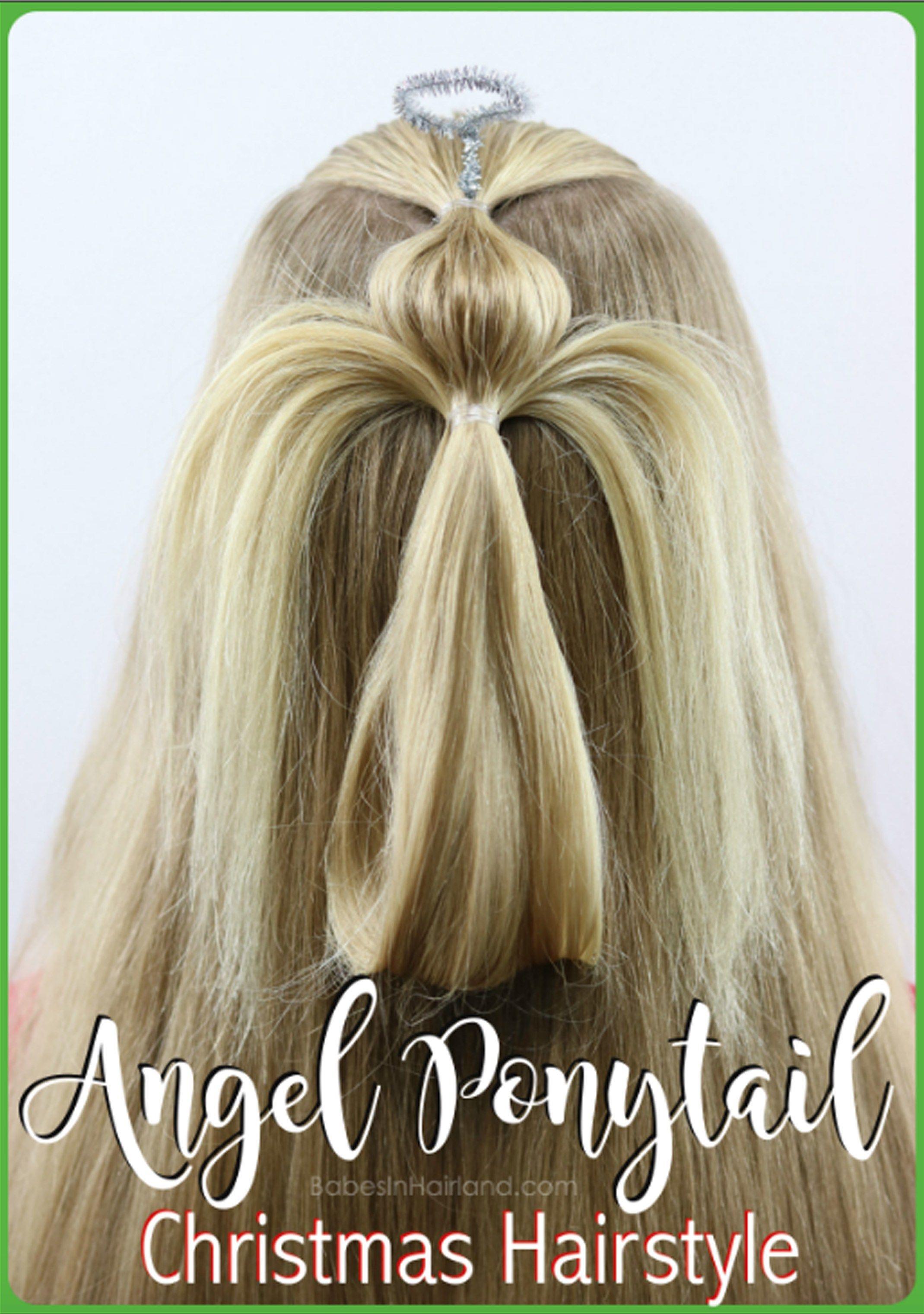 Angel ponytail hair pinterest hair styles christmas