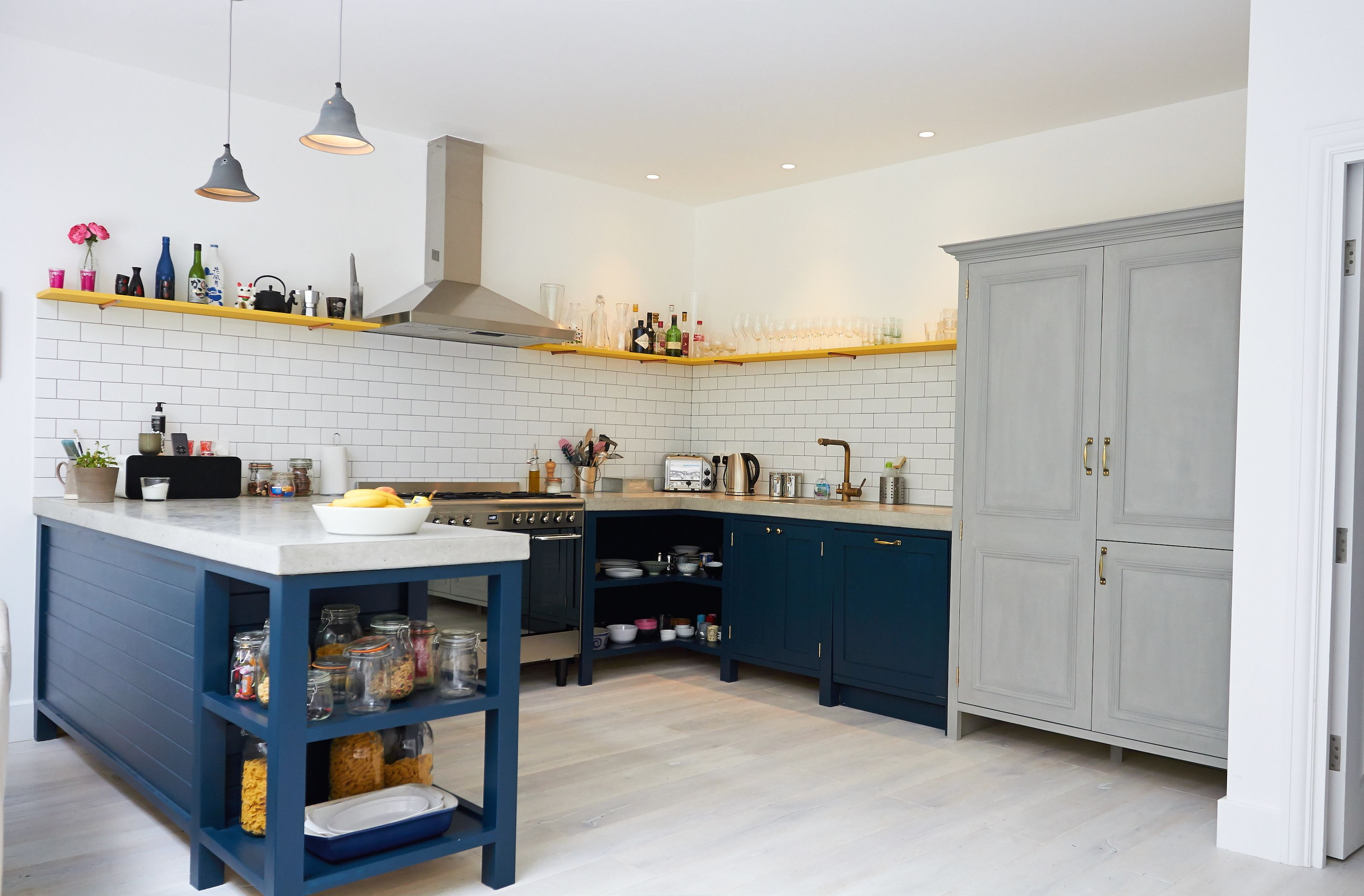 Best A Bespoke Painted Reclaimed Upcycled Kitchen London 400 x 300