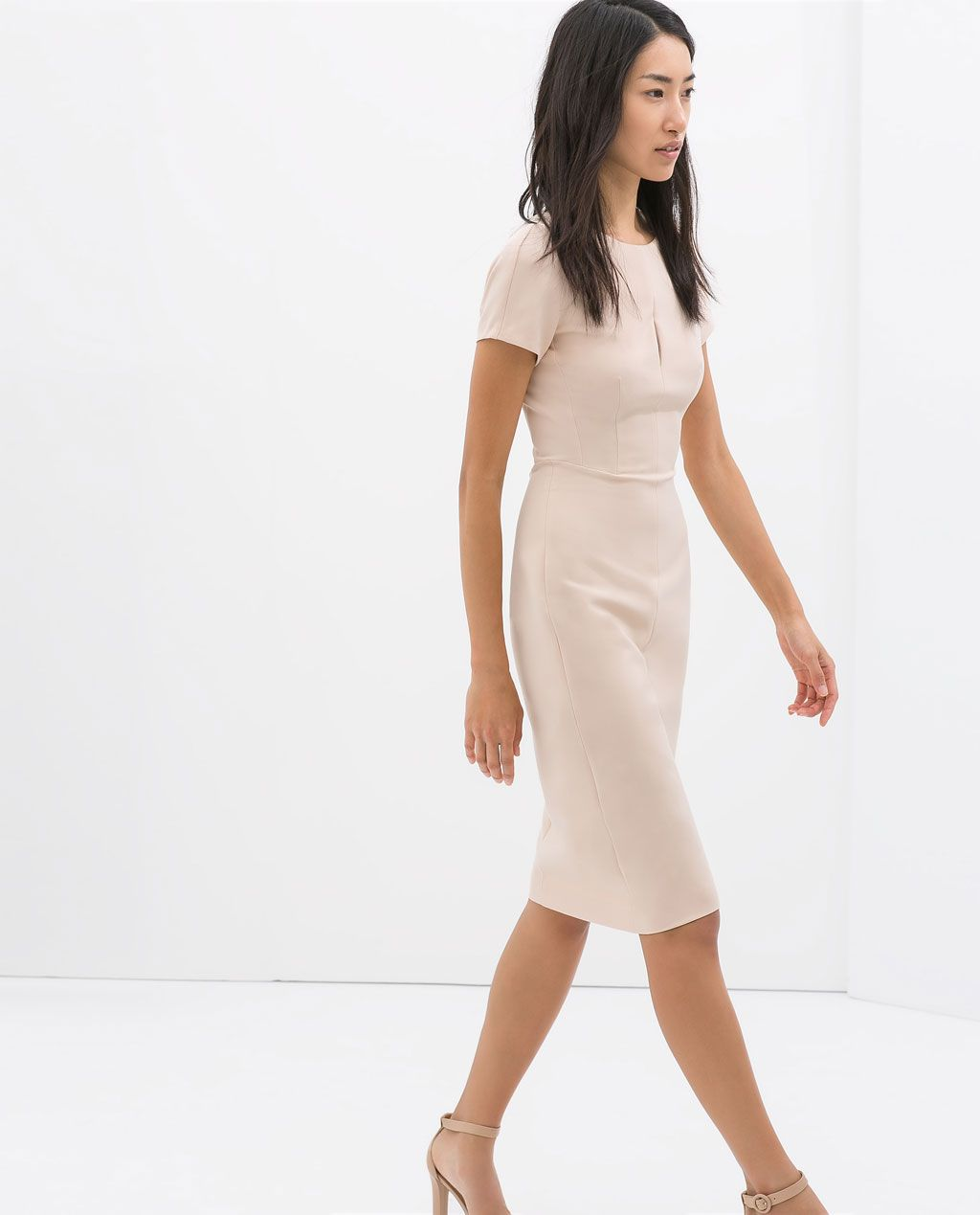 d1bef016 Nude SHIFT DRESS from Zara $79.90 | Spring Wish List in 2019 | Zara ...