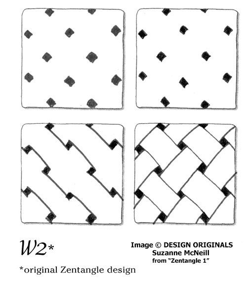 Links to online instructions for drawing the Zentangle