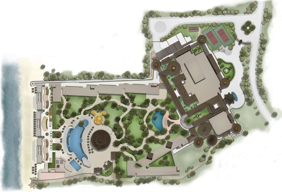 Masterplan Hotel Resort By Talens3d Hotel Landscape Park Resorts Resort