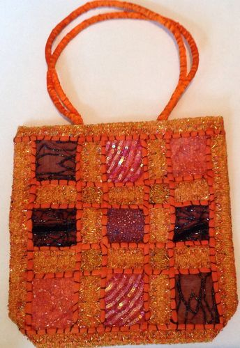 Gorgeous Orange Indian Sequin Beaded Hippy Boho Hand Bag | eBay