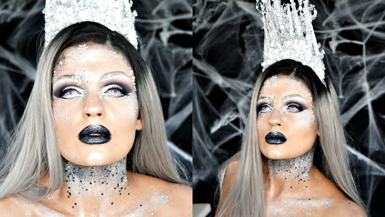 Dark Ice Queen Makeup Tutorial Collab With Amanda Speroni Ice Queen Makeup Queen Makeup Snow Queen Makeup