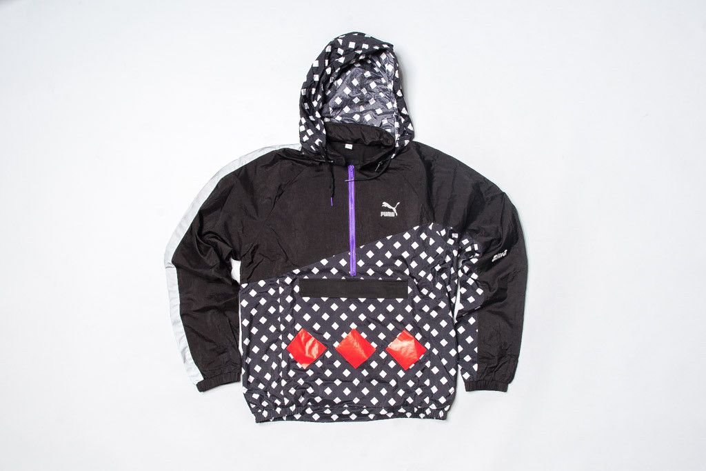 Alife x Puma Track Jacket - Black/Reflective Silver/Red