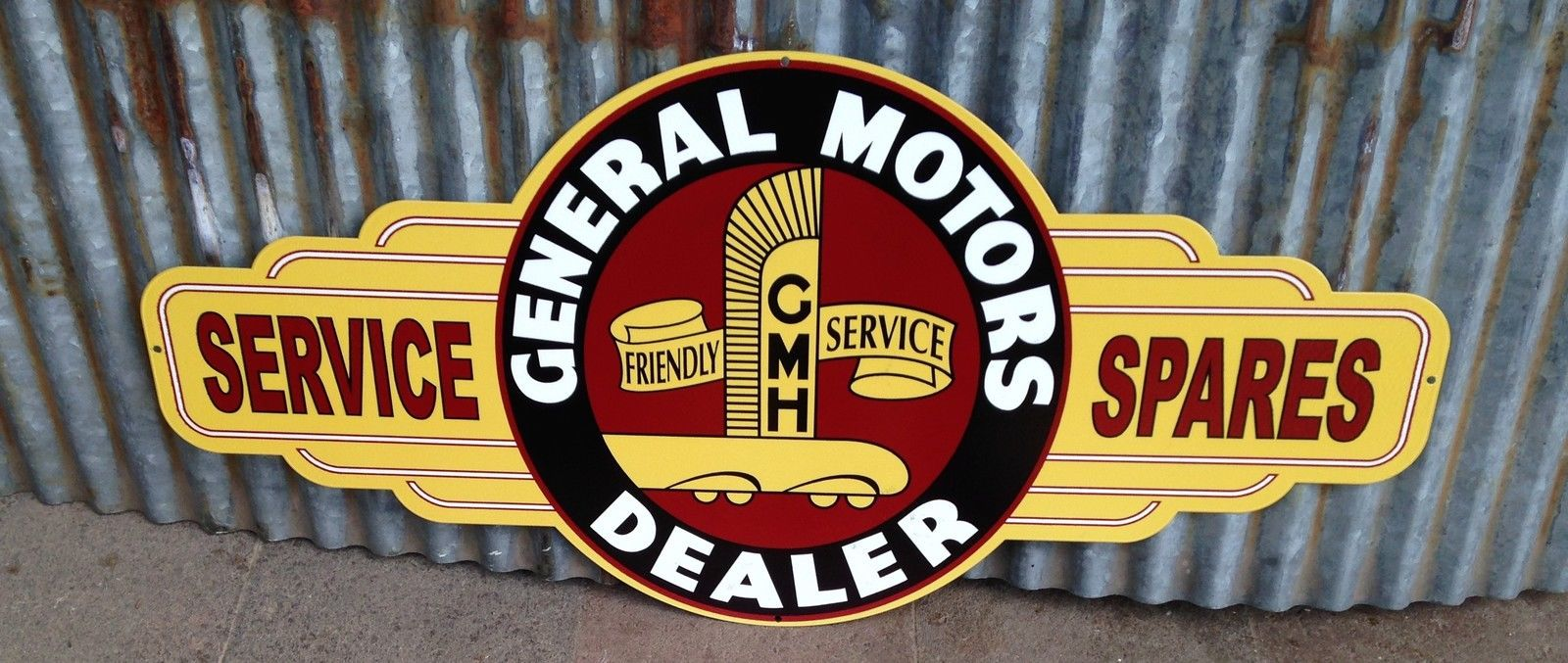 General motors dealer metal tin sign bar garage free for General motors dealers near me